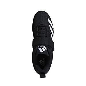 adidas Men's Powerlift Weightlifting Shoe, Black/White/Black