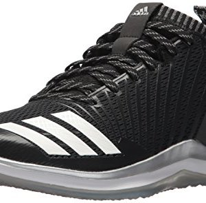 adidas Men's Icon Trainer Baseball Shoe, Black/White/Onix