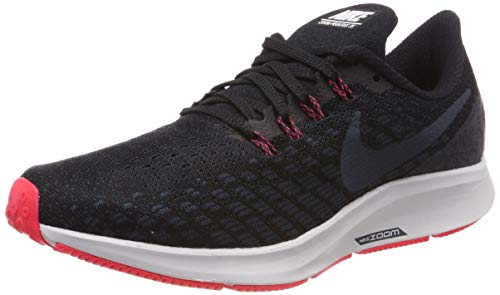 Nike Men's Air Zoom Pegasus Running Shoe Black/Armory Navy/Platinum Tint