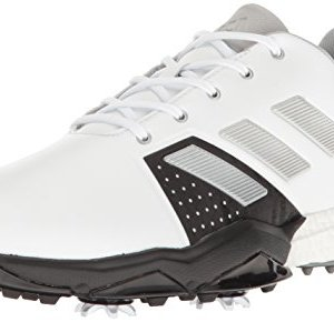 adidas Men's Adipower Boost 3 Golf Shoe, White/Silver Metallic/Black