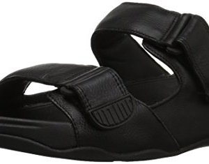 FitFlop Men's Gogh MOC Slide in Leather Sandal, Black