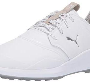 Puma Golf Men's Ignite Nxt Pro Golf Shoe, Puma White-Puma Silver-Gray Violet