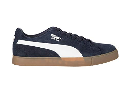 PUMA Malbon Suede G Spikeless Golf Shoes Peacoat/White