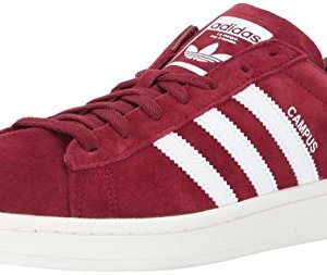 adidas Originals Men's Campus Sneaker, Collegiate Burgundy Chalk White