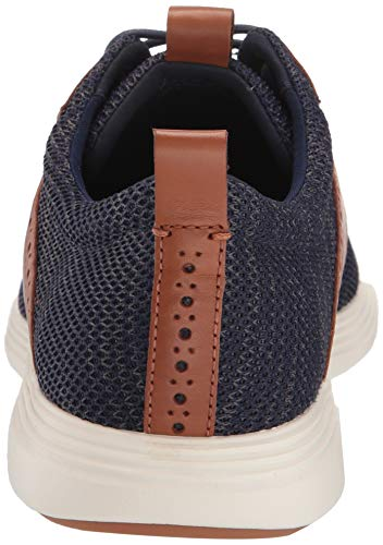 Cole Haan Men's Grand Tour Knit Oxford Marine Blue Cole Haan Men's Grand Tour Knit Oxford Marine Blue/TAN Flat, 11.0 M US.