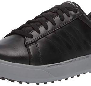 Skechers Men's Drive 4 LX Waterproof Golf Shoe, Black/Gray