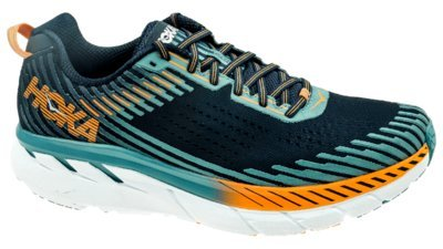 HOKA ONE ONE Men's Clifton 5 Running Shoe Black Iris/Storm Blue