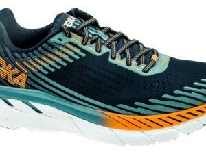 HOKA ONE ONE Men's Clifton 5 Running Shoe Black Iris/Storm Blue