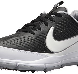NIKE Men's Explorer Golf Shoe, Black/White/Metallic Silver/Wolf Grey