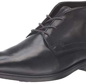 ECCO Men's Melboune Chukka Boot, Black/Magnet