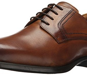 Florsheim Men's Medfield Plain Toe Oxford Dress Shoe, Cognac