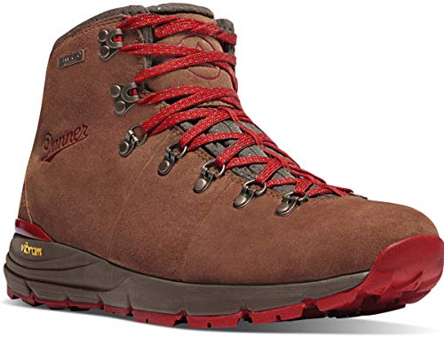 """Danner Men's Mountain 600 4.5"""" Hiking Boot, Brown/Red - Suede"""