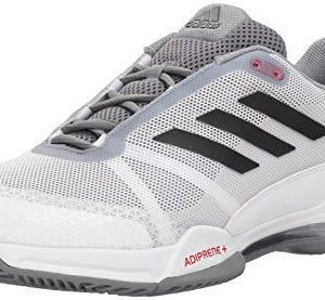 adidas Performance Men's Barricade Club Tennis Shoe, White/Black/Grey