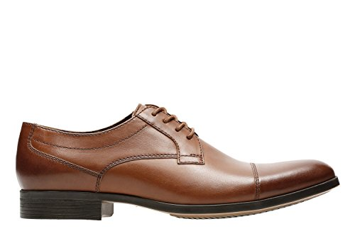 Clarks Men's Conwell Cap Oxford, tan Leather