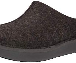 CLARKS Men's Step Flow Clog, Black Felt
