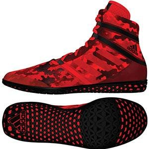 adidas Impact Men's Wrestling Shoes, Red Camo Print