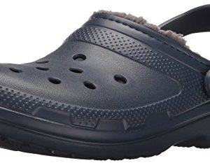 Crocs Classic Lined Clog, Navy/Charcoal, Men's 8, Women's 10 Medium