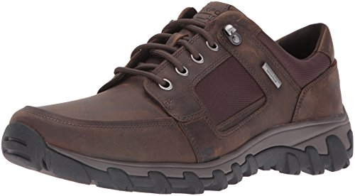 Rockport Men's Cold Springs Plus Lace to Toe Walking Shoe- Dark Brown