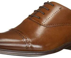 STACY ADAMS Men's Barris Cap-Toe Lace-Up Oxford, Cognac