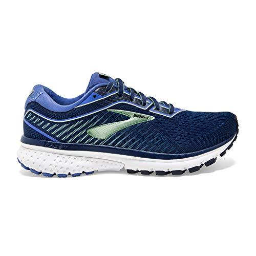 Brooks Womens Ghost 12 Running Shoe - Peacoat/Blue/Aqua Brooks Womens Ghost 12 Running Shoe - Peacoat/Blue/Aqua - D - 8.5.