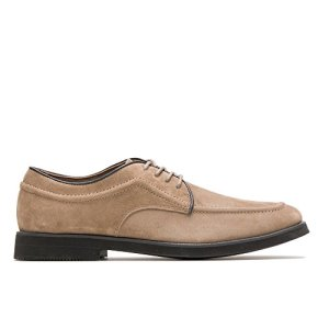 Hush Puppies Men's Bracco MT Oxford, Taupe Suede