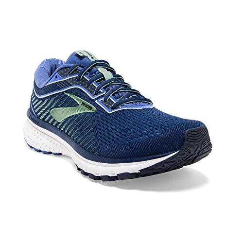 Brooks Womens Ghost 12 Running Shoe - Peacoat/Blue/Aqua