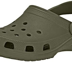 Crocs Classic Clog|Comfortable Slip On Casual Water Shoe, Army Green, 13 M US Women / 11 M US Men