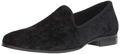 STACY ADAMS Men's Sultan Velour Slip-On Loafer, Black