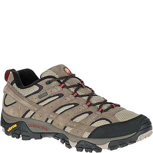 Merrell Men's Moab 2 Waterproof Hiking Shoe, Bark Brown