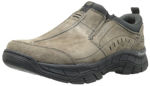 Skechers Relaxed Fit Rig Mountain Top Mens Slip On Sneakers Brown