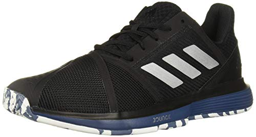 adidas Men's CourtJam Bounce Multicourt Tennis Shoe, Black/Silver Metallic/tech