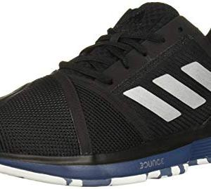 adidas Men's CourtJam Bounce Multicourt Tennis Shoe, Black/Silver Metallic/tech