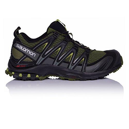 SALOMON Men's XA Pro 3D Trail Running Shoes, Chive/Black/Beluga