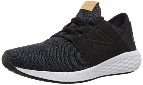 New Balance Men's Cruz V2 Fresh Foam Running Shoe, black/white