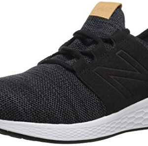New Balance Men's Cruz V2 Fresh Foam Running Shoe, black/white