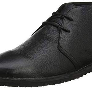 Geox Men's Zal 8 Chukka Boot, Black, 40 Medium EU