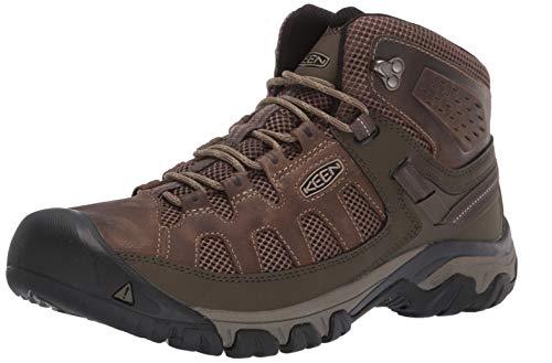 KEEN Men's Targhee Vent MID Hiking Boot, Olivia/Bungee Cord