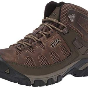 KEEN Men's Targhee Vent MID Hiking Boot, Olivia/Bungee Cord