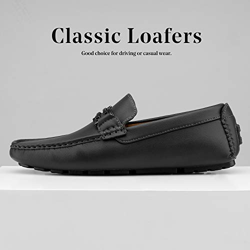 """Bruno Marc Men's Hugh-01 Black Faux Leather Driving Penny Loafers Boat Shoes Faux leather-based higher with detailed stitching all through Rubber Slip Resistant soles and Latex cushioned man-made footbed. Lightweight, versatile and luxury informal moccasins loafers footwear. Slip-on design permits for fast and straightforward on and off. Classic moc toe Design Heel top: 0.5"""" (approx) Featuring Faux Leather higher, slip on design for simple on/off put on, and mesh detailing on facet for added type, and traditional Moc Toe Design. Finished with easy fake leather-based Lining, cushioned footbed for consolation, and non-skid outsole. An awesome and cozy design this idler includes a traditional light-weight moc-toe, Italian type design, in addition to a non-skid sturdy, versatile outsole for simple motion. The shoe additionally has a fake leather-based higher and mesh detailing on its facet. Many completely different colours to select from theshoe comes with a easy fake leather-based lining, in addition to a really snug, latex cushioned footbed. Choose from quite a lot of traditional colours for a chic search for all events. Taking type inspiration from what's hitting the runways to the newest avenue type, we purpose to create probably the most covetable, snug and classy footwear designs. We have a whole lot of various informal footwear to select from. Whether you might be in search of loafers, style sneakers, and even costume footwear, we've got one thing for you. Our high quality management crew oversees each a part of the manufacturing course of. We pleasure ourselves on our consideration and dedication to element design with out sparing consolation."""