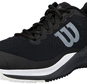Wilson Footwear Men's Rush PRO 3.0 Tennis Shoes, Black/Ebony/White
