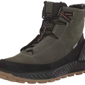 ECCO Men's Exostrike Gore-tex Hiking Boot, Black/Deep Forest Yak Nubuck