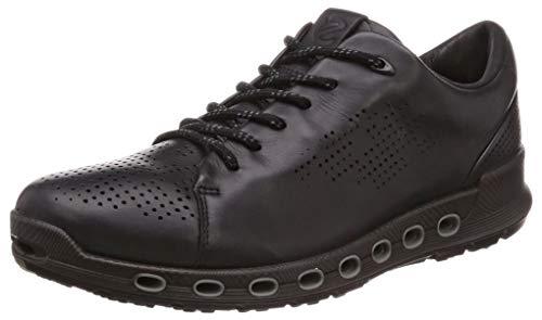 ECCO Men's Cool 2.0 Leather Gore-TEX Sneaker, Black Retro