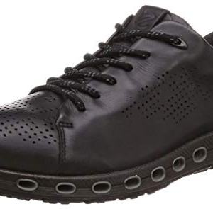 ECCO Men's Cool 2.0 Leather Gore-TEX Sneaker, Black Retro