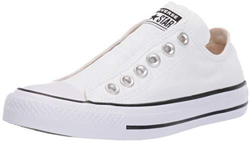 Converse Men's Chuck Taylor All Star Slip Sneaker, Black/White, 7 M US