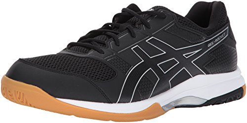 ASICS Mens Gel-Rocket 8 Volleyball Shoe, Black/White