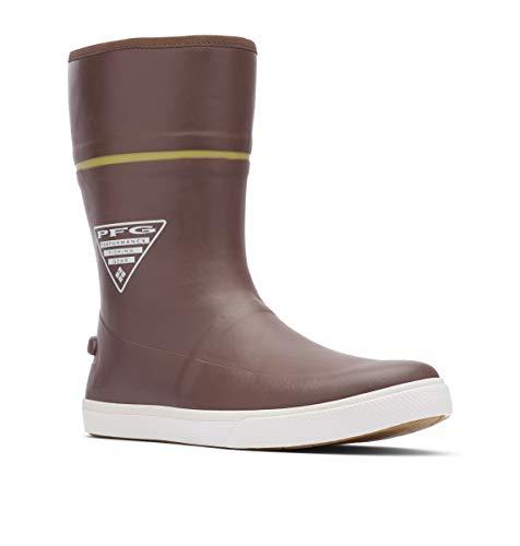 Columbia PFG Men's Dorado LITUP 10 PFG Rain Boot, Tobacco/Peppercorn