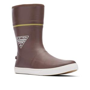 Columbia PFG Men's Dorado LITUP 10 PFG Rain Boot, Tobacco/Peppercorn