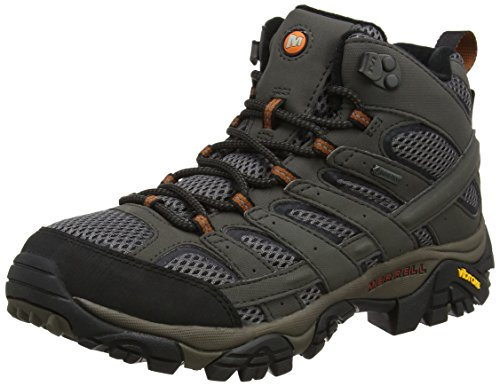 Merrell Men's Moab 2 Mid GTX High Rise Hiking Boots, Beluga