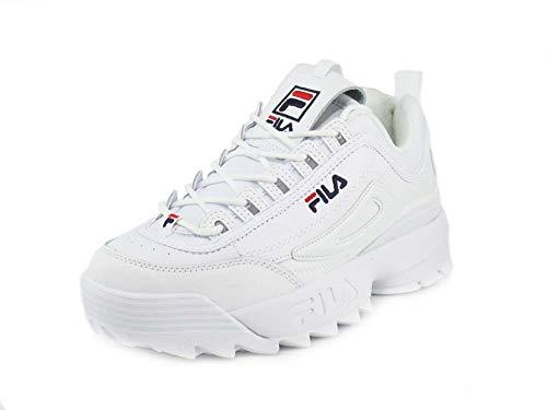 Fila Disruptor II Premium Sneakers White Navy Red Mens