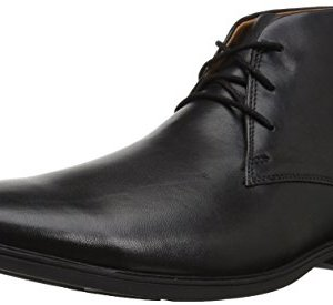Clarks Men's Tilden Top Fashion Boot, Black Leather